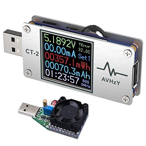 Avhzy usb power meter tester digital multimeter us the best Amazon