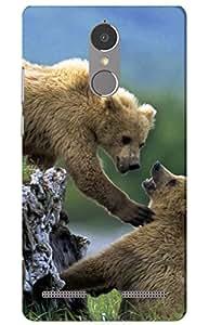 iessential bear Designer Printed Back Case Cover for Lenovo K6 Power