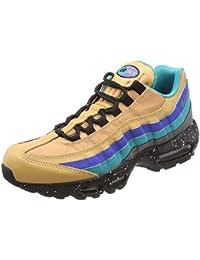 separation shoes 089ee 9aa6c Nike Chaussures Air Max 95 Premium Mega Blue Pour Homme en Cuir Multicolore  538416-204