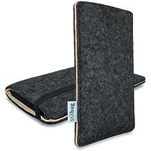 Stilbag Funda de fieltro 'FINN' para Huawei Nexus 6P - Color: antracita/beige