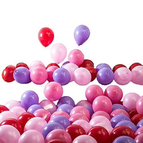 duyou Party Dekoration Geburtstag Geburtstag Hochzeit Hochzeit liefert Hochzeitszimmer Hochzeitsarrangement Tiffany blau 100 rot + pink + Hellrosa + lila (Tiffany Blau Dekoration Party)
