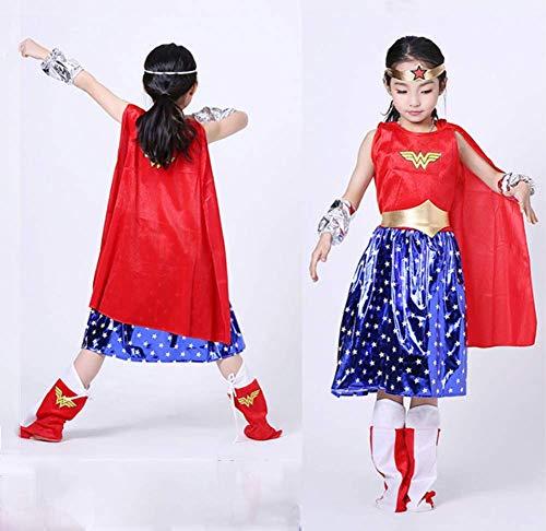 CVDEKH Halloween Superman Kleidung Cosplay Wunder Frauen