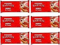 Harveys Crunchy & Creame Gourmet Delicacies Cream Wafer Biscuit 150 g Sticks - Hazelnut Flavoured (Pack of 6)