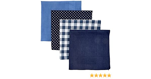 Mens Multi Spot Hankie Set Handkerchief, Blue (Mid Blue), One Size Burton Menswear London