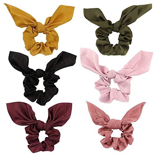 DRESHOW 6 Pack Damen Stirnbänder für die Arbeit rutschfeste Boho Stirnbänder Vintage Blume gedruckt Criss Cross elastische Kopf wickeln verdreht niedlichen Haarschmuck (6 Pack Haar Schals)