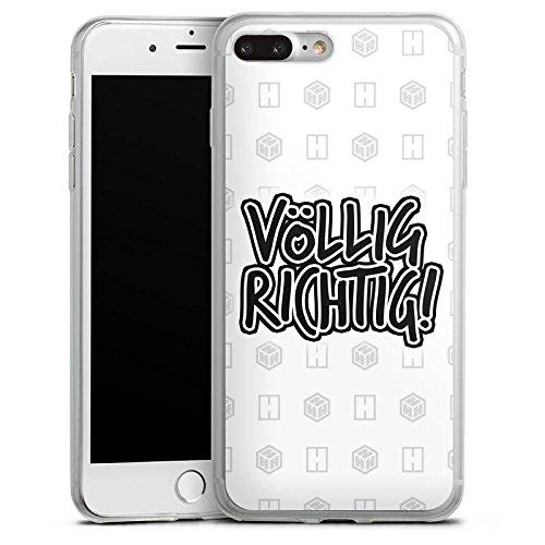 Apple iPhone X Slim Case Silikon Hülle Schutzhülle der_hacki Fanartikel Merchandise völlig richtig Silikon Slim Case transparent