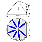 skandika Tipii II 8 Person Tent Festival Party Tent Teepee Wigwam with 250 cm Height, 3000 mm Water Column & Zip-Up… 18