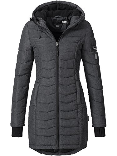 SUBLEVEL Damen gefütterter Steppmantel Mantel Stepp Wintermantel Mantel Damenmantel 44138E dark grey M