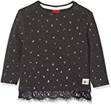 s.Oliver Junior Baby-Mädchen Langarmshirt 65.810.31.8292, Grau (Dark Grey Melange AOP 98a4), 86