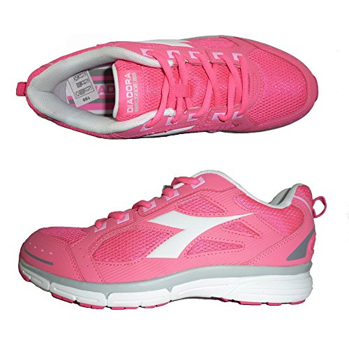 DIADORA JAZZY 3 JR sneakers scarpe sportive casual (38 EU, PINK FLUO/WHITE)