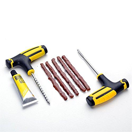 Seasaleshop Kit de reparación de neumáticos reparación pinchazos para reparación neumáticos de...
