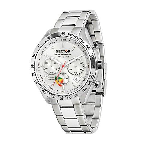 SECTOR NO LIMITS Orologio Cronografo Solare Uomo con Cinturino in Acciaio Inox R3273613003