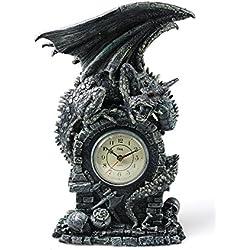 mascarello® Reloj mal Dragon lámpara de techo reloj de mesa decoración