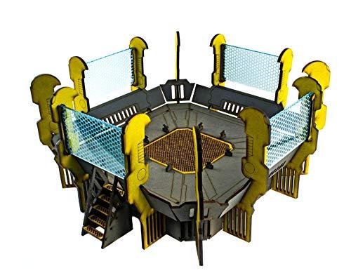 War World Gaming Industry of War Hubschrauberlandeplatz - 28mm Schlachtfeld Tabletop Gelände Sci-Fi Necromunda Infinity 40k Infinity Marine