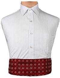 EIB7B01B Red Patterned Mens Woven Microfiber Formal Wear Gift Cummerbund By Epoint