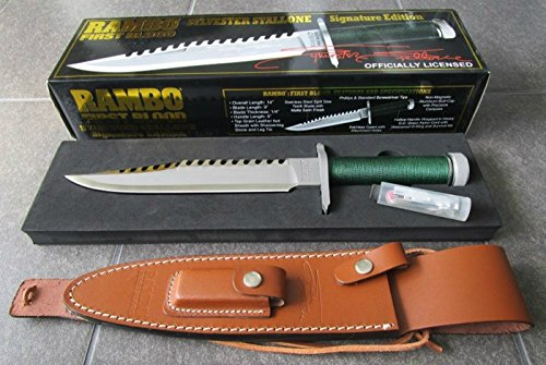RAMBO 1 - First Blood Part I Messer - lim. Signature Edition (Sylvester Stallone) in 'golden Big...