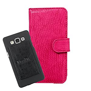 DooDa PU Leather Wallet Flip Case Cover With Card & ID Slots For Lava Iris 465 - Back Cover Not Included Peel And Paste