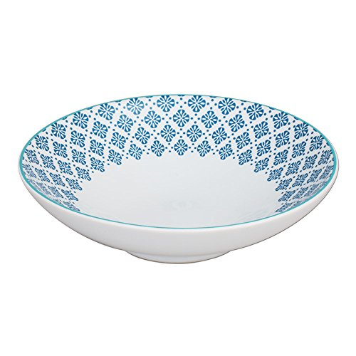 TABLE PASSION - ASSIETTE CREUSE HELYSE BLEU 19CM (LOT DE 6)