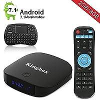 Kingbox K1 Plus Android 7.1 TV BOX 2GB/8GB with Mini Keyboard,4K/BT4.0/Full HD/H.265/Smart TV Box