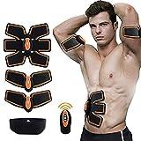 Ceinture d'électrostimulation musculaire HANXIANG pour les abdos et la perte de poids au niveau de la taille, matériel pour exercices abdos hommes et femmes, ceinture d'amincissement pour exercices de fitness en salle de sport ou à la maison