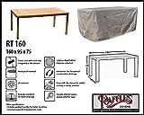 Raffles Covers RT160 Schutzhülle für rechteckige Gartentisch Schutzhülle für rechteckigen Gartentisch, Abdeckhaube für Gartentisch, Gartenmöbel Abdeckung