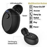 Bovon Écouteur Bluetooth, Mini Oreillette Bluetooth 4.1 [Recharge Magnétique] Sans Fil Réduction de Bruit Intra-Auriculaires Casque avec Micro pour iPhone, Samsung, Android Smartphones (Noir)