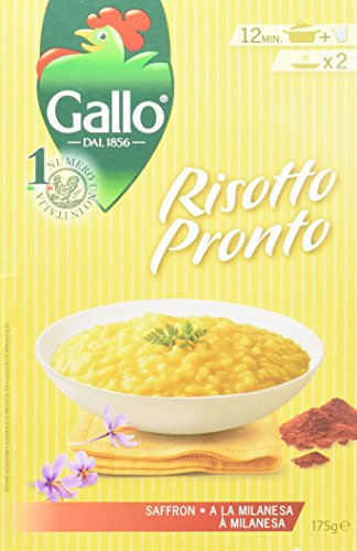 Riso Gallo Saffron Risotto Pronto, 175 g, Pack of 6