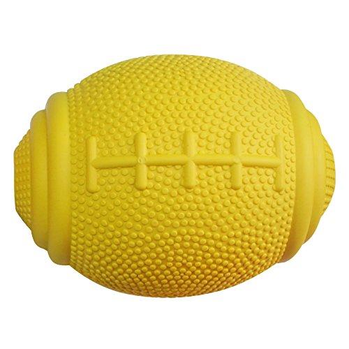 PlayfulSpirit Tricky Treat Rugbyball: Hundeleckerli-Dispenser - Hervorragend zur Angstlinderung und zum Ausbrechen aus Langeweile, Spaßiges Spielzeug zum Apportieren für die Welpenerziehung