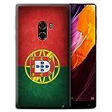 Stuff4® Custodia/Cover/Caso/Cassa Gel/TPU/Prottetiva stampata con il disegno Bandiere per Xiaomi Mi Mix 2 - Portogallo/portoghese