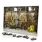 printplanet Adventskalender mit NamenOma - gefüllt mit Schokoladen-Füllung - personalisiert mit Namens-Motiv Weihnachtsbuchstaben - Schoko-Kalender, Weihnachtskalender, Namenskalender