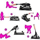 Sexmaschine - Automatische und ferngesteuerte Masturbation Maschine Liebe Sex Maschine Gun mit Dildo Set, Supermatic Sexspielzeug Hände frei Fickmaschine für Frauen(Schwarz)