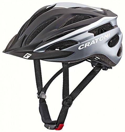 Cratoni Pacer Fahrradhelm, Black/White Matt, XS-S