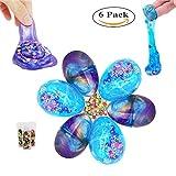Oxsaytee Fluffy Slime mit 3PCS Galaxy Slime + 3PCS Crystal Schleim + 3PCS Fruit Slice