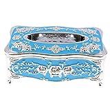 B Blesiya Retro Kosmetiktücherbox Kosmetikbox Taschentuchbox Kosmetiktuchspender für Haus Auto Büro - Splitterblau
