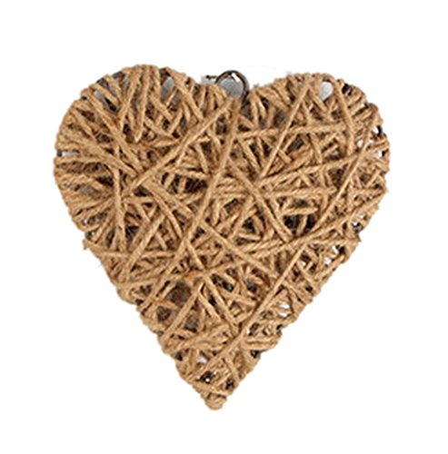 Icegrey Handmade Hemp Rope Weave Art decorazione da parete a forma di cuore, canapa, As Picture, 8.19