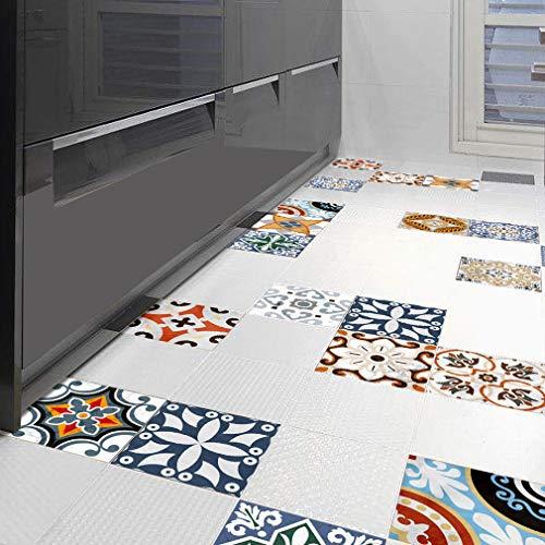 Stickers carrelage | Adhésif Autocollant - Décorer Faience Cuisine, Salle de Bain et Cuisine | Film Adhésif pour Carreaux de Ciment - Home Décor | Design Classique | 12 pièces / 1 set , 5 , 15*15cm