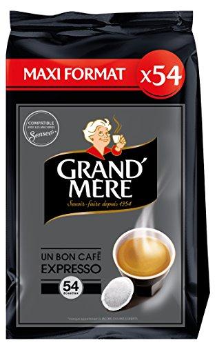 GRAND MERE Café Expresso - 270 Dosettes Souples - Lot...
