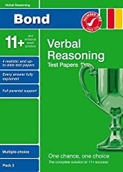 Bond 11+ Test Papers Verbal Reasoning Multiple-Choice Pack 2