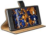 mumbi Ledertasche im Bookstyle für Sony Xperia X Tasche