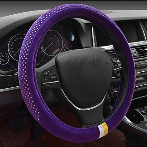 juegos de ruedas de dirección de conjuntos cortos de felpa caliente cómoda sudoríparas invierno generales de los suministros de automoción (38cm) , fashion purple