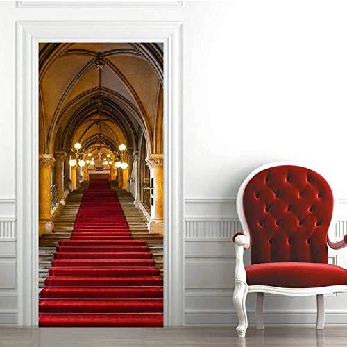 xukep Europäischen Stil palast Tor Architektur fototapeten tapete Wohnzimmer Aufkleber PVC wasserdicht für wohnkultur 77x200 cm -