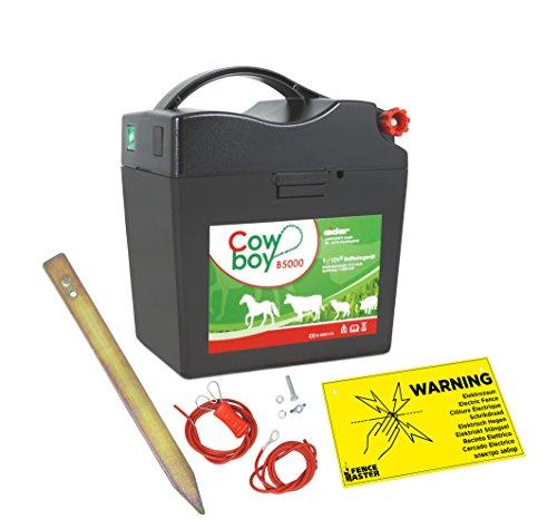 Électrificateur de clôture Koll Living-Pour batteries Extra Power Eider B5000 de 9V et 12V-Avec set d'accessoires-9000V-De qualité-Fabriqué en Allemagne
