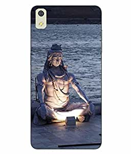 Snazzy Lord Shiva Printed Multicolor Hard Back Cover For LYF WATER 8