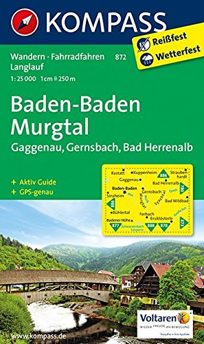 Baden - Baden 872 GPS wp kompass Murgtal par Kompass-Karten