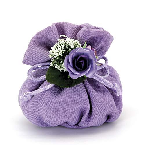 Alice's decorations bomboniere fai da te sacchettino in cotone pouf confezione da 20 pezzi