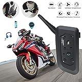 Comomingo Motorradhelm Walkie-Talkie 1200 M Duplex Reiten Walkie-Talkie V6Pro 1200M für...