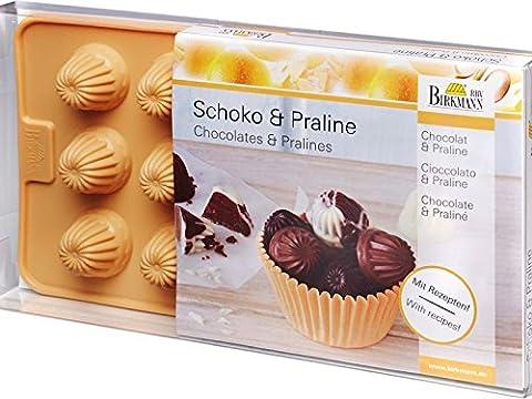 Birkmann 251779 Kouglof Moule pour Chocolat/Praliné pour 15 Pralinés Silicone Beige 21,8 x 12,0 x 3,0 cm