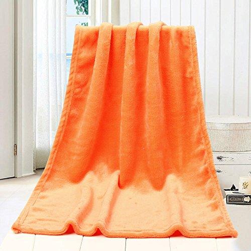 Decke Fleecedecke Kinderdecke, COLORFUL Micro Plüsch Fleecedecke, Super Weich Warm,Decke für Kinder (Orange, 100 x 140 cm) (Micro-flanell-decke)