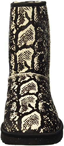 UGG Classic Short Exotic Snake, Bottes Classiques Femme Beige (Cream)