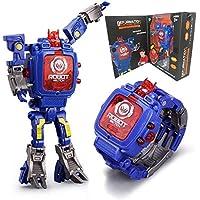 Juguete Reloj Transformers Juguetes Niños 2 en 1 Transformadores electrónicos Juguetes Reloj Robot deformado Transformación Manual